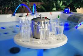 British Hot Tub Feature | Play Zone (Lit Drinks/Games Table) - optional at £95