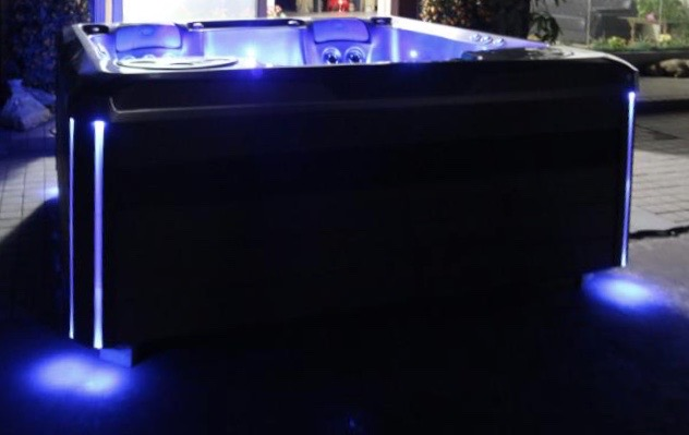 British Hot Tub Feature | Lit Cabinet Corners - optional at £295